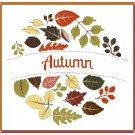Autumn Wreath Cross Stitch Pattern Chart Graph
