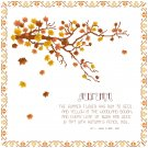 An Autumn Poem Cross Stitch Pattern Chart Graph