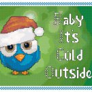 Baby It's Cold Outside Cross Stitch Pattern Chart Graph