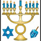 Happy Hanukkah Cross Stitch Pattern Chart Graph