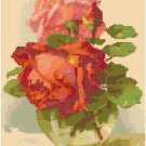 Roses In A Vase Cross Stitch Pattern Chart Graph