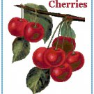 Country Cherries Croos Stitch Pattern Chart Graph