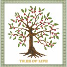 Tree of Life II cross stitch pattern chart graph