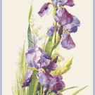 Purple Iris Cross Stitch Pattern Chart Graph