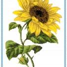 Sunflower Cross Stitch Pattern Chart Graph