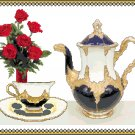 Tea and my Sweetheart's Roses Cross Stitch Pattern Chart Grapyh