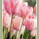 Spring Tulips in Watercolor Cross Stitch Pattern Chart Graph
