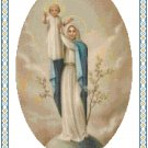 Our Lady of Peace Cross Stitch Pattern Chart Graph