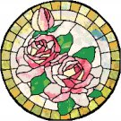 Roses in Stained Glass Cross Stitch Pattern Chart Graph