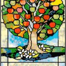 Your Family Tree in Stained Glass Cross Stitch Pattern Chart Graph