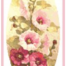 Hollyhocks in Watercolor Cross Stitch Pattern Chart Graph