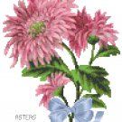 Tussie Mussie Asters Cross Stitch Pattern Chart Graph