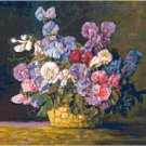 Sweetpeas by Max Streckenbach Cross Stitch Pattern Chart Graph