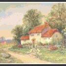 Thatched Roof Cottage Cross Stitch Pattern Chart Graph