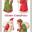 Vintage Santas Collage Cross Stitch Pattern Chart Graph