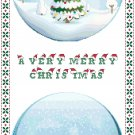 Christmas Snow Globes Cross Stitch Pattern Chart Graph