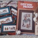 Thru the Seasons and Cotton Pickin' Cross Stitch Booklets (2)
