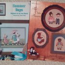 Summer Days Booklet and Past-Thyme Pleasures Booklet Cross Stitch Patterns Set of 2