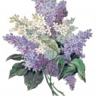 Blue, Purple and White Lilacs Pattern Chart Graph