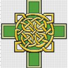 Ancient Irish Knotted Cross Pattern Chart Graph