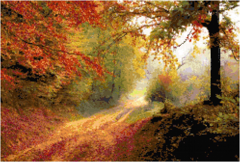 Down an Autumn Lane Pattern Chart Graph