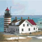 West Quoddy Head Lighthouse Pattern Chart Graph