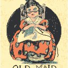 Old Maid Playing Card Pattern Chart Graph