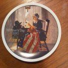 Norman Rockwell Mother's Day Plate 1980
