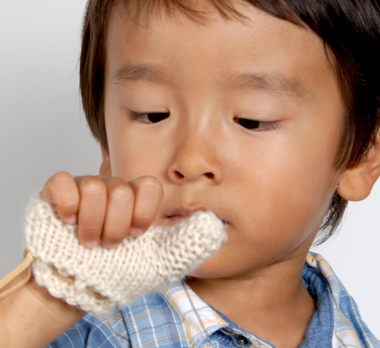 Thumb Sucking Baby / Toddler Mitten - Beige, Size XS: 6-12 Months