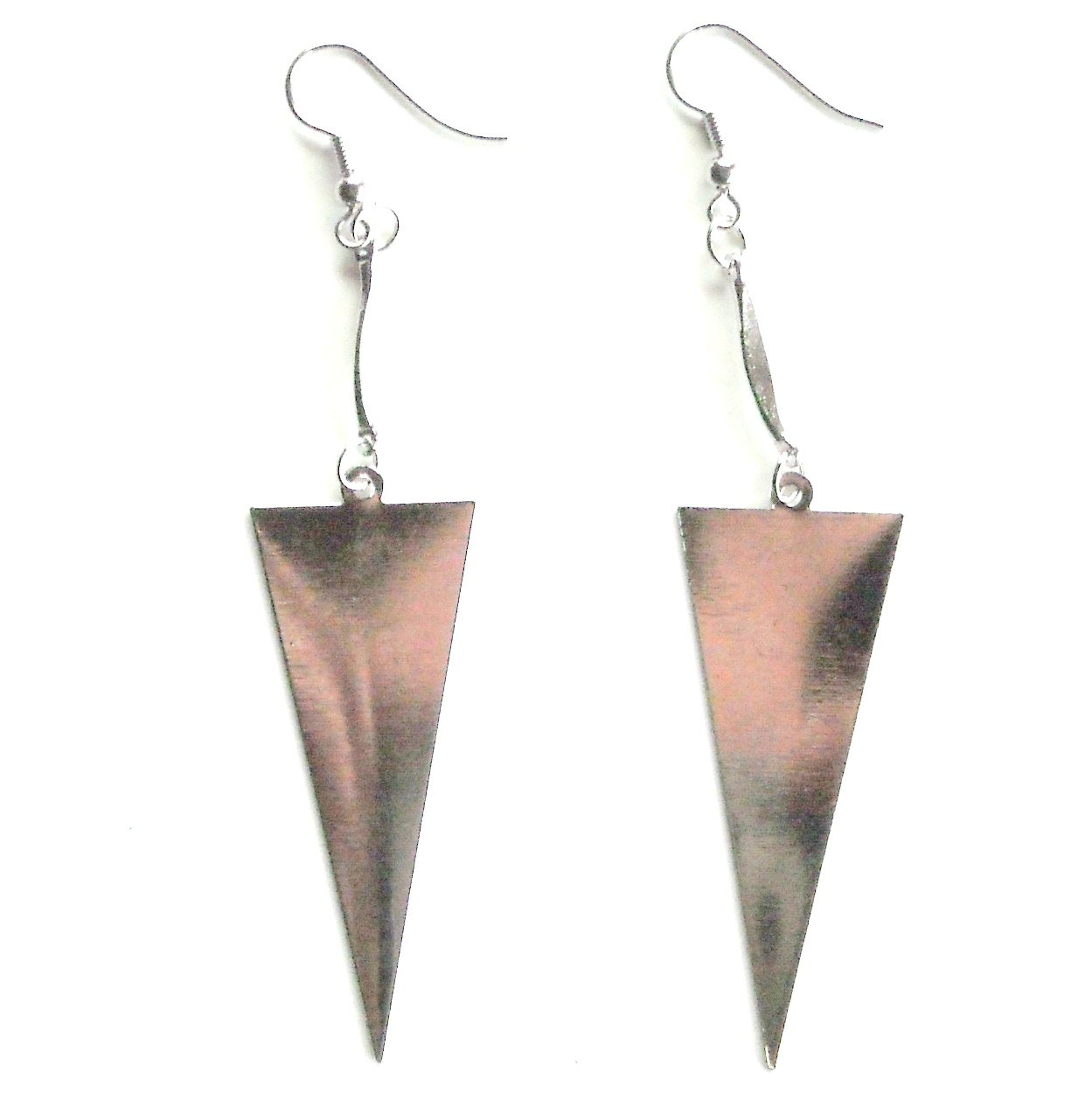 Triangle Silver color Metal Dangle Fashion Earrings