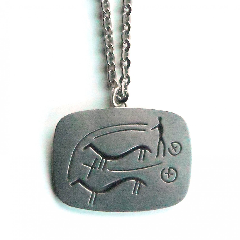 Jorgen Jensen Pewter Vintage Danish Viking Design Necklace