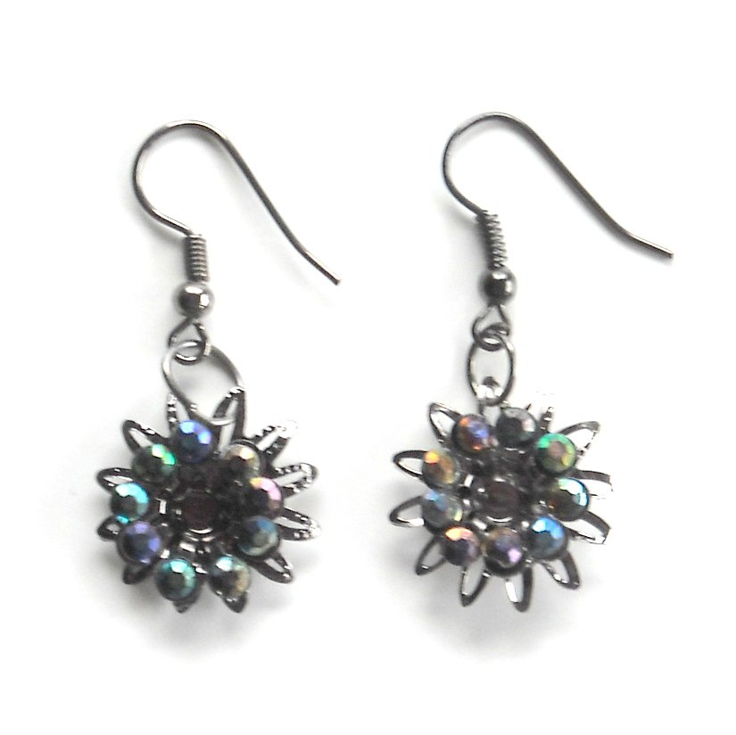 Rhinestone Multicolor Flower Fashion Earrings