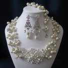 ROYALTY COLLECTION wedding jewelry, bridal jewelry set, pearl necklace, bracelet, earrings