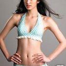 Juicy blue and white heart frill skirt bikini size small