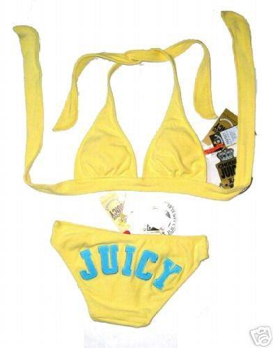 Yellow Juicy Couture Bikini Size Large Uk 10-12