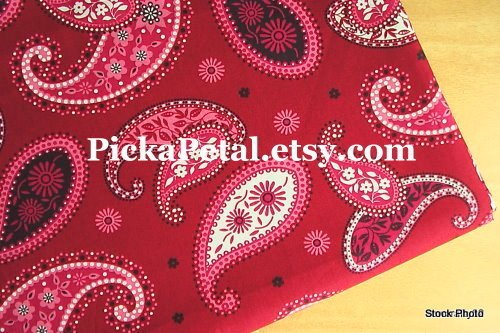 """Mes* Red main Cotton Fabric 1 yd x 57"""""""
