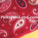 Mes* Red main Cotton Fabric 1 yd x 57""