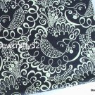 Twirly B*rds Navy main Cotton Fabric 1 yd x 57""