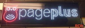 PAGEPLUS LED CELLPHONE MOBILE SHOP SIGN FLASHING