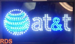 AT&T LED MOBILE CELLPHONE FLASHING SHOP SIGN
