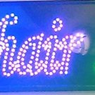 HAIR SALOON LED FLASHING SHOP SIGN