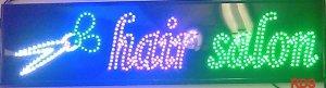 HAIR SALOON LED FLASHING SHOP SIGN