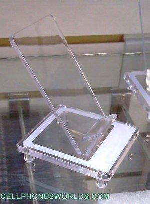 TRANSPARENT CELLPHONES  DISPLAY HOLDERS LOT OF 75 PCS