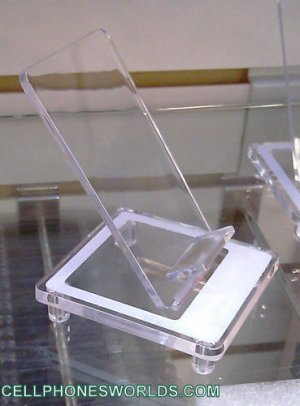 TRANSPARENT CELLPHONES  DISPLAY HOLDERS LOT OF 25 PCS