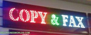 COPY&FAX LED SHOP SIGN POSTAL SHOP SIGN