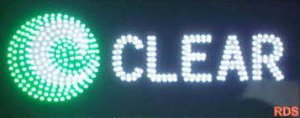 CLEAR INTERNET PHONE LED SIGN   SHOP SIGN FLASHING