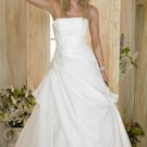 Custom made A-line strapless wedding dresses bridal gown AD002