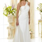 Custom made one shoulder wedding dresses 2011 AD004