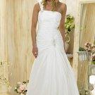 Custom made one shoulder wedding dresses 2011 AD005