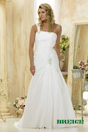 Custom made one shoulder wedding dresses 2011 AD005